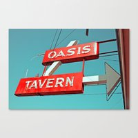 Oasis Sign Canvas Print