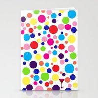 Polk-a-dot martini Stationery Cards