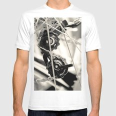 Spokeh White SMALL Mens Fitted Tee