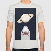 The Universe Is A Shark'… Mens Fitted Tee Silver SMALL