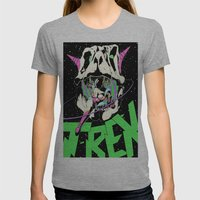 T-REX Color Womens Fitted Tee Athletic Grey SMALL