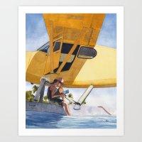 Caribbean Charter Art Print