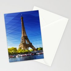 The Pinnacle of Light - Eiffel Tower & River Seine - Paris Stationery Cards