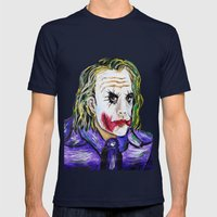 Gotham is Mine - Heath Ledger as The Joker Mens Fitted Tee Navy SMALL