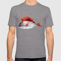 FISHY STARDUST Mens Fitted Tee Tri-Grey SMALL