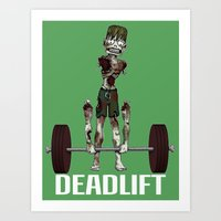 Crossfit Zombie By Ronky… Art Print