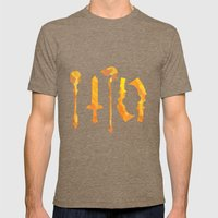 Final Fantasy IX Mens Fitted Tee Tri-Coffee SMALL