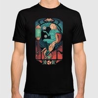Aran Nouveau Mens Fitted Tee Black SMALL