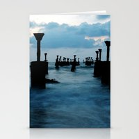Pillars by the sea Stationery Cards
