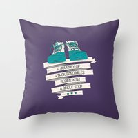 a journey of a thousand miles begins with a single step Throw Pillow