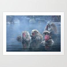 Bathing ALF Art Print