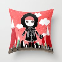 Eskimo Girl, I love you. Throw Pillow