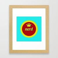 Nerds Rule Framed Art Print