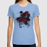Roses Womens Fitted Tee Athletic Blue SMALL