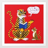 Tiger Tales Art Print