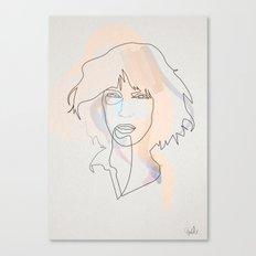 One Line Patti Smith Canvas Print