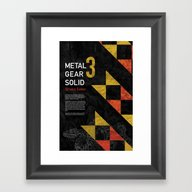 Metal Gear Solid 3: Snak… Framed Art Print