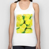 Yellow Flowers II Unisex Tank Top