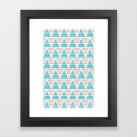 Mixed Aztec Pattern Framed Art Print