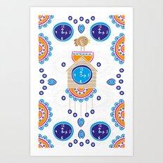 Lucky Evil Eye Cuckoo Clock Art Print