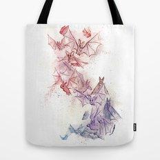Flight of Bats Tote Bag