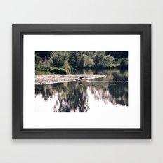 Lake Somewhere Framed Art Print