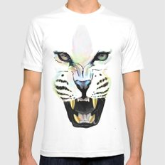 Cheetah  Mens Fitted Tee White SMALL