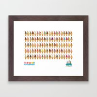 Kawaii 100 Soft Serve Ice Cream Cone Combinations  Framed Art Print