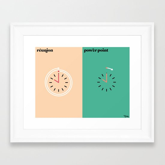 le boulot Framed Art Print