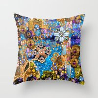 Gold, Glitter, Gems and Sparkles Throw Pillow