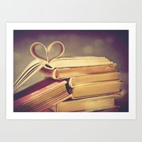 Vintage Book Love Art Print