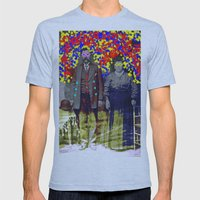 Flower Power Mens Fitted Tee Athletic Blue SMALL