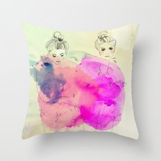 Brr its cold outside Throw Pillow