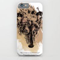 Solitude is independence iPhone 6 Slim Case