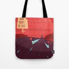 :::Rain drops of love::: Tote Bag