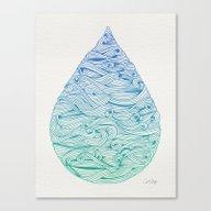 Ombré Droplet Canvas Print