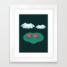 Hearts in the Clouds Framed Art Print
