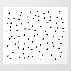 Black Dots on White Art Print