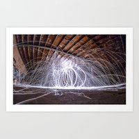 Lighting With Lightning  Art Print