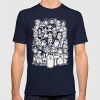 Point And Click  Mens Fitted Tee Navy SMALL