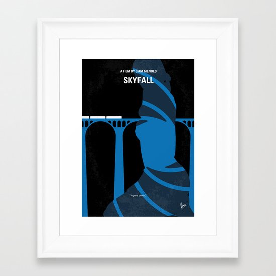 No277-007-2 My Skyfall minimal movie poster Framed Art Print