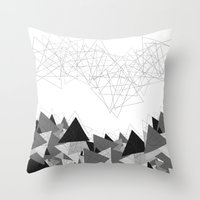 Triangle Grey Throw Pillow
