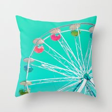 Minty Ferris Wheel Of Ha… Throw Pillow