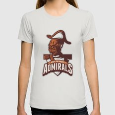 Mon Calamari Admirals Womens Fitted Tee Silver SMALL