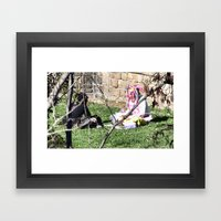 Barcelona: Two girls Framed Art Print