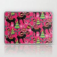 Festive Deer Pink Laptop & iPad Skin