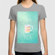 Tea Womens Fitted Tee Tri-Grey SMALL