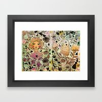 Bird Girl Framed Art Print