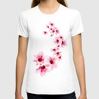 cherry blossom T-shirts featuring Cherry Blossom  by Luiz C.