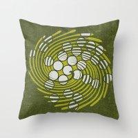Circles in Vortex Throw Pillow